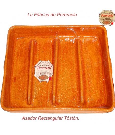 Asador rectangular tostón