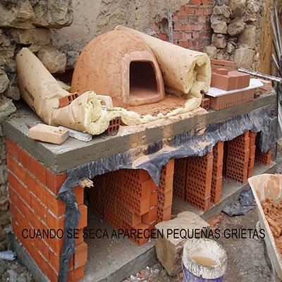 Contrucción del horno paso 17