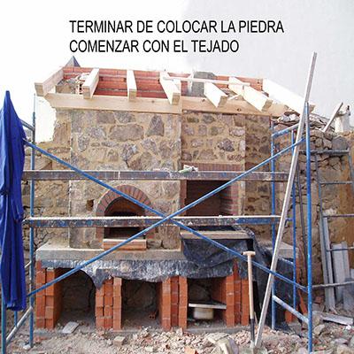 Contrucción del horno paso 29
